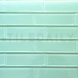 SALE ITEMS - GM0113 - Glass Subway Tile. Light Green