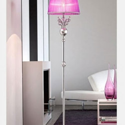 """6010/6015 Floor Light - The 6010/6015 Floor Light is part of a collection of High End light fixtures designed by Studio Stile Masiero in Italy for Masiero. This floor lamp is a beautiful and harmonious piece that brings to classicism and modernism a new perspective. 6010/6015 floor lamp is an elegant light fixture consisting of a base and a long metal rod enriched with brass fusion decorations in gold or chrome-plated finish. A candle-light that sits on the superior side of the rod is covered by delicate ivory or violet colored Pongè lampshades which is optional. This is a stylish and contemporary floor lamp that will light up any environment. Illumination is provided by E27 100W Incandescent bulb (not included).     .proddesc p{font-family: Verdana, sans-serif; font-size:8pt!important;}   .pdtable{font-family: Verdana, sans-serif; font-size:8pt!important;padding:10px;} Product Details: The 6010/6015 Floor Light is part of a collection of High End light fixtures designed by Studio Stile Masiero  in Italy for Masiero. This floor lamp is a beautiful and harmonious piece that brings to classicism and modernism a new perspective. 6010/6015 floor lamp is an elegant light fixture   consisting of a base and a long metal rod  enriched with brass fusion decorations in gold or chrome-plated finish. A candle-light that sits on the superior side of the rod is covered by delicate   ivory or violet colored Pongè lampshades   which is optional.   This is a stylish and contemporary floor lamp that will light up any environment. Illumination  is provided by  E27 100W Incandescent    bulb (not included). Details:                         Manufacturer:            Masiero                            Designer:            Studio Stile Masiero                            Made in:            Italy                            Dimensions:                        Height: 70.9""""(180cm) X Diameter: 15.7""""(40cm)                                         Light bulb:                        E27, 1x100W Inca"""