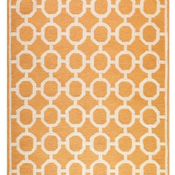 Espana Area Rug, Orange - This is a fabulous, citrus-inspired tilework rug — it sure packs a lot of punch!