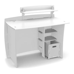 Legare - Legare 43 in. Classic Kids Desk with File Cart - White - MPWM-209 - Shop for Childrens Desks from Hayneedle.com! Your little student will love a desk all his or her own to keep homework (and creativity) going! The Legare 43 in. Classic Kids Desk with File Cart White includes a straight desk PDA shelf CPU shelf and letter file cart. Children left- or right-handed can appreciate the customizable configuration. The file cart includes casters for easy in-and-out movement. The desk comes finished in a durable non-toxic double-baked enamel of crisp fresh white and the modern design brings a touch of style to a bedroom playroom or work room. Assembly is quick and easy fewer than three minutes and you ll have a working desk.About Legare FurnitureBased in Fort Worth Texas Legare Furniture is a design and manufacturing firm that produces contemporary unique and easy-to-assemble furniture for the home and small office. Founded in 1999 the company's designs are an evolution of Legare's original signature modular design continually improved with innovative materials and finishes to enhance the chic style and convenient functionality that marks Legare's furniture as distinct.