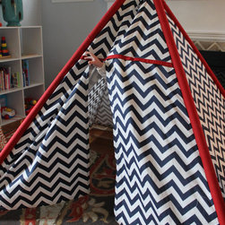 Child's TeePee Playhouse by LaFortune Linens - A chevron tipi? Yes, please!