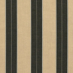 Sunbrella Berenson Tuxedo #8521 Indoor / Outdoor Furniture Fabric | OutsideFabri - Simple and classy, I love the idea of putting this on pool chairs on a dark-stained hardwood patio.
