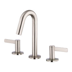 """Danze - Danze D304030BN Brushed Nickel Mini-Widespread Faucet - Danze D304030BN Brushed Nickel Two Handle Mini-Widespread Lavatory Faucet is part of the Amalfi Bath collection.  D304030BN 3 hole 4""""-8"""" Mini-Widespread lav faucet has a 7 3/4"""" high spout, touch down drain assembly.  D304030BN Two lever handles meets all requirements of ADA.  California and Vermont compliant."""