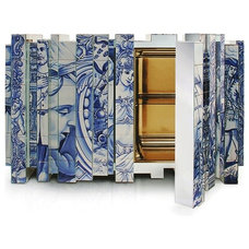 Sideboard By Marco Costa Embossed in Hand-Painted Portuguese Tiles