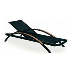 Alusion Series Outdoor Furniture By Royal Botania - This outdoor lounger looks incredibly comfortable. It has a nice shape and the curved teak armrests add extra interest to it. I like that it has a breathable bed so you don't get too hot and can dry off after a dip in the pool.