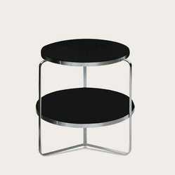 Soho - Metro Black Glass End Table Two Tiered - SOHO-METRO-END-BL