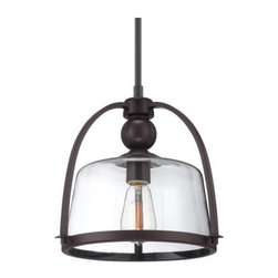 Quoizel - Quoizel QPP1401 Quoizel Piccolo Pendant 1 Light Full Sized Pendant - Crafted from durable steel this splendid 1 light mini pendant is an ideal addition to your home.Features: