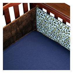 "Jazzie Jungle Boy - Crib Sheet - Bring out the animal in you with ""One Grace Place"" Jazzie Jungle Boy collection.  Crib sheet is in the collection's navy cotton fabric. You can't go wrong with anything this collection has to offer!"
