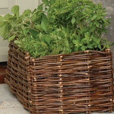 Traditional Outdoor Planters Willow Planter for Herbs