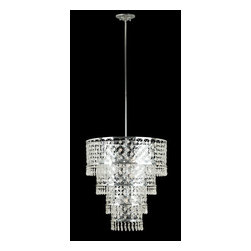 "Kenroy Home - Kenroy Home 91776 Decorative 6 Light Pendant Facet Collection - Decorative 6 Light Pendant from the Facet CollectionKenroy Home offers the finest in decor, performance, and value.  Their chandeliers, ceiling lighting and indoor and outdoor wall lighting capture the essence of lighting technology, and combine it with styling points of view ranging from classical and traditional, to contemporary and casual.  Kenroy lamps and portable lighting utilize a wide variety of materials, and create artistic elements that complement your home furnishings as well as make their own statements.  Particular care is paid to hand applied polishing and painting, matched with the finest in glass and shade treatments.  Fountains are the latest Kenroy Home category entry, and are designed and crafted to blend with various interior and exterior decors. They add soothing movement and the gentle sounds of falling water to unique artistry created in real and simulated stone, metal and ceramics.The Facet collection brings new meaning to the word """"shine"""", with a combination of intricate, Asian inspired metalwork and hanging glass drops designed to delight the eye.  It's a showstopper for an entryway or dining room."