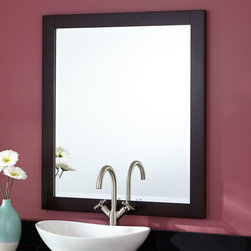 """28"""" Modero Vanity Mirror - The 28"""" Modero Vanity Mirror is the perfect companion piece for a sink and vanity."""