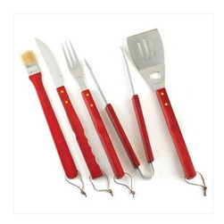Barbeque Tool Set - It's that time of year again, time to get the grill all ready for those summertime cookouts.  Grilling would be fun with this great set of tools.