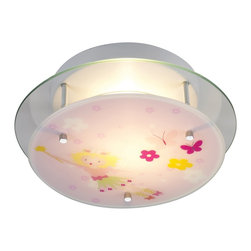 Elk Lighting - Elk Lighting Novelty Flowers Semi Flush Mount Ceiling Light X-2/80012 - This Novelty Flowers contemporary semi-flush mount ceiling light by Elk Lighting is a wonderful addition to a little child's room. It's a fun and whimsical piece that features a cute design that's sure to light up not only a room, but your child's face.