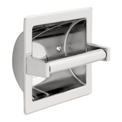 Liberty Hardware - Liberty Hardware 607C F.B. GUEST ROOM ACCESSORIES 6.6 Inch Tissue Paper Holder - Ideal for commercial buildings or office bathrooms, this recessed toilet paper holder is made of durable stainless steel material and is polished to coordinate with other bathroom fixtures. The brass roller makes changing the paper easy and fast. Width - 6.6 Inch, Height - 6.7 Inch, Projection - 4.1 Inch, Finish - Polished Chrome, Weight - 1.12 Lbs.