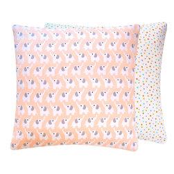 Pink Elephant Organic Decorative Pillow - Chloe & Olive