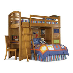 PULASKI Furniture - Beariffic Twin Over Twin Loft Bed - 633184-633185-633186-633 - Durable construction