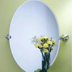 Charlotte Oval Tilting Mirror - With its stylish and timeless design, this oval tilting mirror will give your bathroom a crisp, clean appearance.