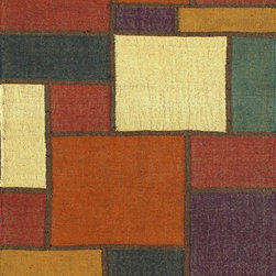 Rugsville Patchwork Red Ivory 13725 Wool & Jute & Polyester Rug - Rugsville Trellis collection is handcrafted from wool. Trellis rug inspired pattern is a contemporary and sophisticated addition to any room. This hand woven flat weave rug was meticulously crafted with 100% wool in India.