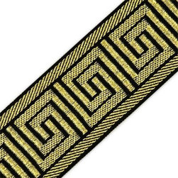 60Mm Greek Key Metallic Jacquard - I just LOVE to add trim to drapes, lamps, pillows, etc. It adds such a chic bit of texture to your home textiles!