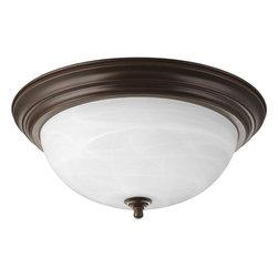"Progress Lighting - Progress Lighting P3926-20EB 15-1/4"" Three Light Flush Mount Ceiling Fixture - Features:"