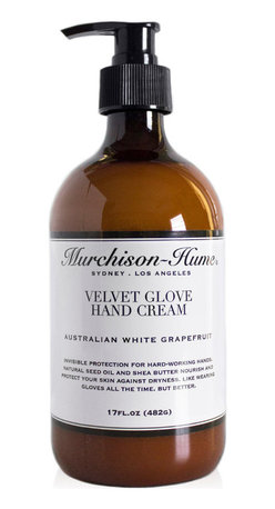 Murchison-Hume - Murchison-Hume  Velvet Glove Hand Cream - Australian White Grapefruit - Blended with natural Grape seed oil and Shea butter to nourish and protect skin. It is like wearing gloves all the time, but better.