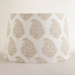 World Market - Natural Paisley Floor Lamp Shade - Detailed with a classic paisley pattern in rich creams and naturals, our exclusive Natural Paisley Floor Lamp Shade provides the perfect finish to any lighting solution. Customize it with any of our mix-and-match floor lamp bases to create the ideal match for your personal style.