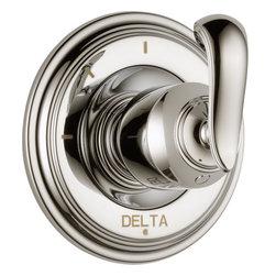Delta Cassidy 3 Function Diverter Trim - Delta Cassidy 3 Function Diverter Trim, Brilliance® Polished Nickel Finish, T11897-PNLHP H598PN
