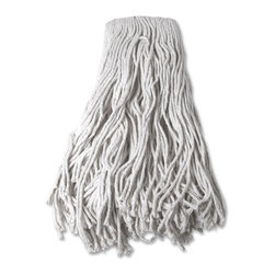 Genuine Joe - Genuine Joe Mop Head Refill - Cotton - Refill is designed for use with Genuine Joe Cotton Wet Mop for light or heavy jobs. Absorbent, natural four-ply cotton yarn is ideal for damp mopping and scrubbing efficiency. 24 oz. mop head is made with a high percentage of recycled material.
