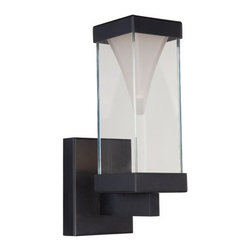 WAC Modern Forms - Hudson Valley Lighting | Hillsdale Swivel Wall Sconce - Design by Modern Forms.The Vortex collection showcases a unique inverted pyramid, which speaks to design quality and commitment to refined details. The Vortex 12.5in Outdoor Wall Light features a mitered glass enclosure around an etched opal glass insert.