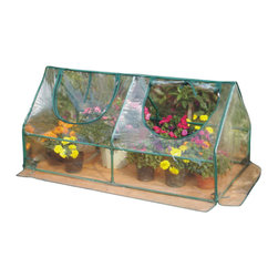 Zenport - Garden Cold Frame 120x60x60cm - Zenport SH3212A Garden Cold Frame Greenhouse Cloche for Easy Access Protected Gardening. See Zenport SH3212A+BTP for completed Raised Bed Kit. Size: 47-Inches (120CM) X 24-Inches (60CM) X 24-Inches (60CM) Takes up very little space, but gives your plants a great early start! Offers an economical means of seed propagation, plant growing and display. Suited to sheltered positions such as patios and balconies. Manufactured from waterproof transparent cover, creating the optimal growing conditions. Create warmth and insulation, whilst allowing air, moisture, and sunlight to filter through. Roll-up zipped panel for easy access, adjustable ventilation and humidity control. Sturdy tubular steel frames with green painted finish.