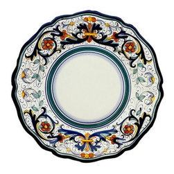Artistica - Hand Made in Italy - Vecchia Deruta: Charger Buffet Platter - Vecchia Deruta Collection: (Old Deruta)