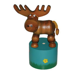 """The Original Toy Company - The Original Toy Company Kids Children Play Moose Thumb Puppet - Our """"Exclusive"""" beautifully painted. Wooden thumb puppets provide a vast. Number of amusing actions and hours of Memorable play value for one and all. Average height- 4.5"""". Ages 3 plus years to Adult"""
