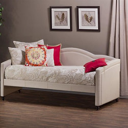 Hillsdale - Twin Daybed - Finished in a lovely linen stone-colored fabric. Accommodates a standard twin size mattress.  Some assembly required. . 83.66 in. W x 42.3 in. D x 39.75 in. H (87 lbs.)