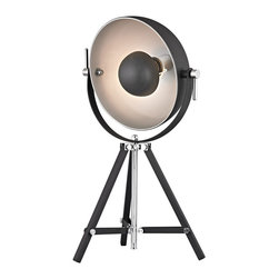 "Dimond Lamps - Stage Light Table Lamp - Height: Min:23"" Ext:25"""