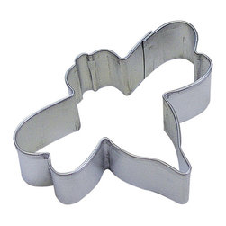 RM - Bumble Bee 3 In. B1257X - Bumble Bee cookie cutter, made of sturdy tin, Size 3 in., Depth 7/8 in., Color silver
