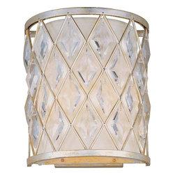 Maxim Lighting - Maxim Lighting 21458OFGS Diamond Modern Wall Sconce in Golden Silver - Maxim Lighting 21458OFGS Diamond Modern Wall Sconce In Golden Silver