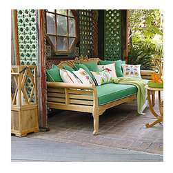 Teak Pineapple Daybed - How elegant is this teak pineapple daybed? You can even use it indoors or out.