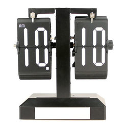 "Vandue - Modern Home Contemporary Retro Style Flip Desk Clock - Paris Clock with Light - Introducing Modern Home's exclusive line of Retro Flip Clocks with an ultra hip flair. The series includes 4 unique designs with uber-cool European design styles. These are perfect gifts for the person who literally has it all. Each flip clock is battery operated by a single 'D' battery. The Paris design measures 7.5"" x 3.5"" x 8"". It is hand made and constructed with a stainless steel and PVC frame."