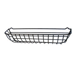 """Garden Artisans, LLC - Wrought Iron Window Hayrack Planters, 44"""" - Extra large heavy-duty wrought iron window box crafted from steel and coated with a thick, black plastic to ensure long life.   The 10"""" depth of this basket will allow for large plantings and less watering.   Each window hayrack comes with a molded coco fiber liner.  Rounded front and sides with flat back for easy installation on flat surface.  Replacement liners available."""