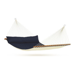 King-Size Hammock With Spreader Bar, Alabama Navy Blue - A king-sized hammock with an integrated pillow and a padded top — sign me up.