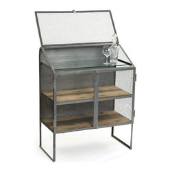 Bachelors Bureau - This bureau is from our vintage industrial furniture collection. It is made up of steel with plenty of storage space. It is an ideal piece for the bachelors to keep things handy as its vintage industrial finish is its highlight.