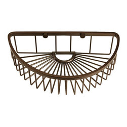 Half Round Shower Basket - This shower basket mounts to your shower wall to keep your soap and bottles close at hand. The attractive half-round shape makes this an ideal addition to any bath.