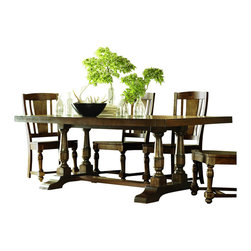 Riverside Furniture - Riverside Furniture Newburgh Rectangular Dining Table in Antique Ginger - Riverside Furniture - Dining Tables - 3744937450KIT -Riverside's products are designed and constructed for use in the home and are generally not intended for rental, commercial, institutional or other applications not considered to be household usage.