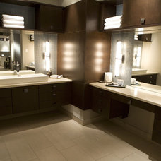 Contemporary Vanity Tops And Side Splashes by Seifer Kitchen Design Center
