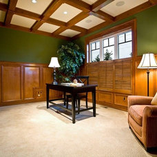 Craftsman Home Office by SISTERS Interior Redesign