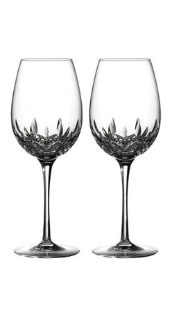 Waterford - Waterford Lismore Essence Goblet/Red Wine, Set of Two - Waterford Lismore Essence is the next generation of the classic Lismore pattern, retaining the brilliance and clarity of Lismore, while incorporating a more slender, modern profile. Generous oversized bowls and thinner walls make these Lismore Essence Red Wine Glasses the perfect vessel to unlock the flavor and aroma of red wine; accentuating the subtlety of Beaujolais or magnifying the impact of flavorful Chianti or Rioja.