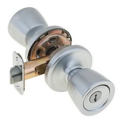 "KWIKSET - Kwikset Abbey Signature Series Vestibule Locksets Satin Chrome - Kwikset-- storeroom/vestibule set, adjustable latch. 1"" Titanium alloy throwbolt core."