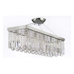 Gallery - Gallery T40-401 Modern 10 Light 1 Tier Crystal Mini Chandelier - Features: