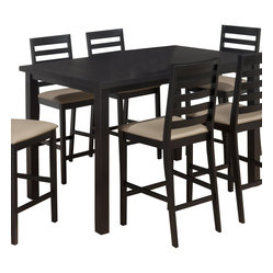 Jofran Bonn Black 59x36 Rectangular Parson Counter Height Table