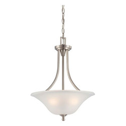 Nuvo Lighting - Surrey Brushed Nickel Three-Light Pendant with Frosted Glass - Surrey Brushed Nickel Three-Light Pendant with Frosted Glass Nuvo Lighting - 60/4147